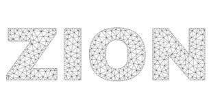 2.o ZION Text Label poligonal ilustración del vector