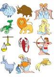 O zodíaco ilustração stock