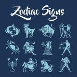 O zodíaco assina a arte do vetor Fotografia de Stock
