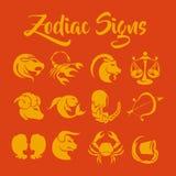 O zodíaco assina a arte do vetor Foto de Stock Royalty Free