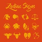 O zodíaco assina a arte do vetor Fotos de Stock Royalty Free