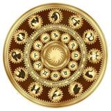 O zodíaco assina o mecanismo de engrenagem imagens de stock royalty free