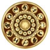 O zodíaco assina medalhões imagens de stock royalty free