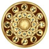 O zodíaco assina medalhões fotos de stock royalty free
