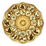 O zodíaco assina medalhões fotografia de stock royalty free