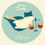 O zodíaco bonito assina o ícone Libra Imagens de Stock Royalty Free