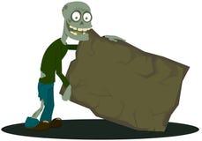 O zombi com a tabuleta Imagens de Stock