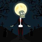 O zombi em um smoking ilustração do vetor