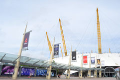 The O2 Arena. Modern architecture of the O2 Arena in London Stock Photography