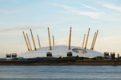 The O2 Arena. And the river Thames in London Stock Photo