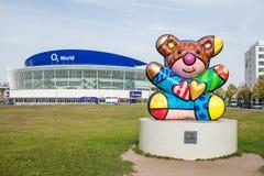 O2 Arena And Romero Britto Sculpture Royalty Free Stock Photo