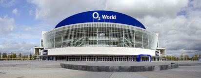 O2 arena in Berlin. O2 arena panorama in Berlin, Germany Royalty Free Stock Photos