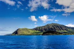 Oahu άποψη ακτών στοκ εικόνες με δικαίωμα ελεύθερης χρήσης