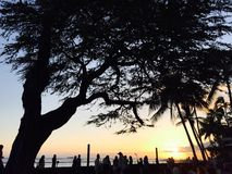 oahu ηλιοβασίλεμα Στοκ φωτογραφίες με δικαίωμα ελεύθερης χρήσης