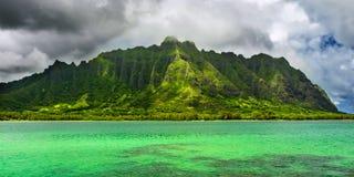 Oahu πανοραμικό Στοκ εικόνες με δικαίωμα ελεύθερης χρήσης