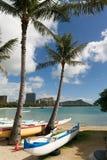 Oahu Χαβάη παραλιών Waikiki Ειρηνικών Ωκεανών ακτών κεφάλι διαμαντιών Στοκ Εικόνα