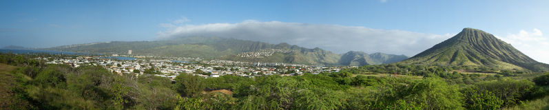 oahu панорамный Стоковое Изображение RF