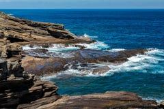 Oahu east coast hawaii island Royalty Free Stock Images