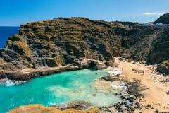 Oahu east coast hawaii island Royalty Free Stock Photography