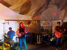 Taimane and band playing at Optimysstique 2017 Campout Royalty Free Stock Photo
