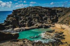 Oahu, Hawaii - puesto de observación de la sopladura de Halona imagen de archivo