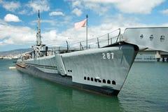 OAHU, HI - 20 de septiembre de 2011 - submarino de USS Bowfin en la perla ha Foto de archivo libre de regalías