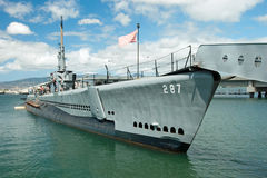 OAHU HI - SEPTEMBER 20, 2011 - USS Bowfin ubåt i pärlemorfärg mummel Royaltyfri Foto