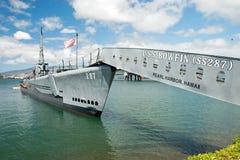 OAHU HI - SEPTEMBER 20, 2011 - USS Bowfin ubåt i pärlemorfärg mummel Fotografering för Bildbyråer