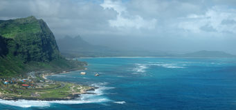 Oahu Island eastern coast Stock Photos