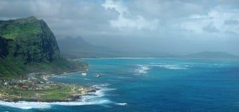 Oahu Island eastern coast Stock Photos