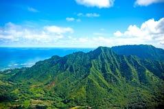 Oahu island, Hawaii. Aerial view of Oahu island in Hawaii Stock Photos