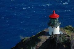 Oahu Island lighthouse. Oahu Island Makapu lighthouse, Hawaii stock photography