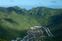 Oahu Island suburban community Royalty Free Stock Image