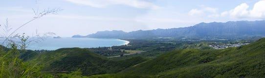 Oahu Lanikai pillerasksikt av Waimanalo Arkivbilder