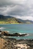 Oahu litoral foto de stock