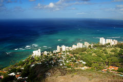 Oahu Overview. Taken from Diamond Head, Honolulu Stock Image
