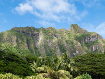 Oahu Pali. Mountain landscape of a pali in Oahu Stock Photo