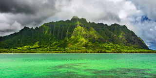 Oahu panoramique Images libres de droits