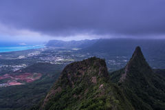 Oahu 3 peaks Royalty Free Stock Photography