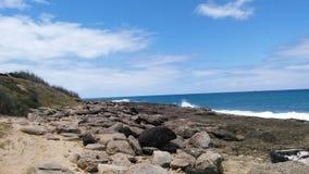 Oahu plaży brzeg Hawaii Zdjęcia Royalty Free