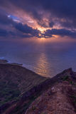 Oahu sunrise on a crater Royalty Free Stock Images