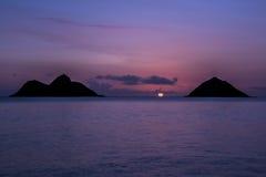 Oahu wschód słońca Obrazy Stock