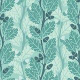 Oak. Trees pattern in modern style Stock Photography