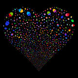 Oak Acorn Fireworks Heart Stock Images