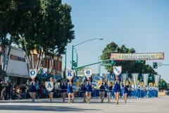 Oak Avenue Intermediate School Marching band of the famous Templ Stock Photo