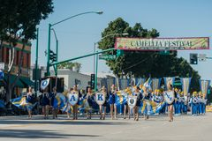 Oak Avenue Intermediate School Marching band of the famous Templ Royalty Free Stock Image