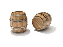 Oak Barrel Royalty Free Stock Photo