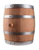 Oak Barrel. Isolated On White Background Royalty Free Stock Image