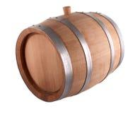 Oak Barrel. Isolated On White Background Stock Photography