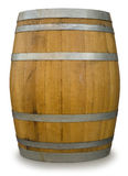 Oak Barrel. Isolated on white with a clipping path Stock Photography